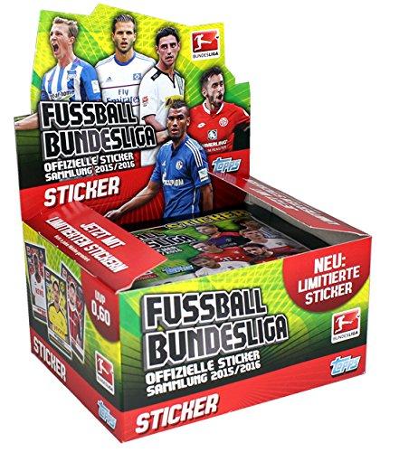 Topps - Deutsche Fußball Bundesliga 2015/16 Sammel Sticker (1 Display -50 Tütchen)