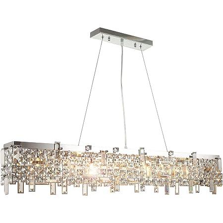 Moderno led lusso vetro cristallo lampadario plafoniera di dimensioni 110cm diametro soffitto soggiorno luce 8xG9 presa incl. led lampadini