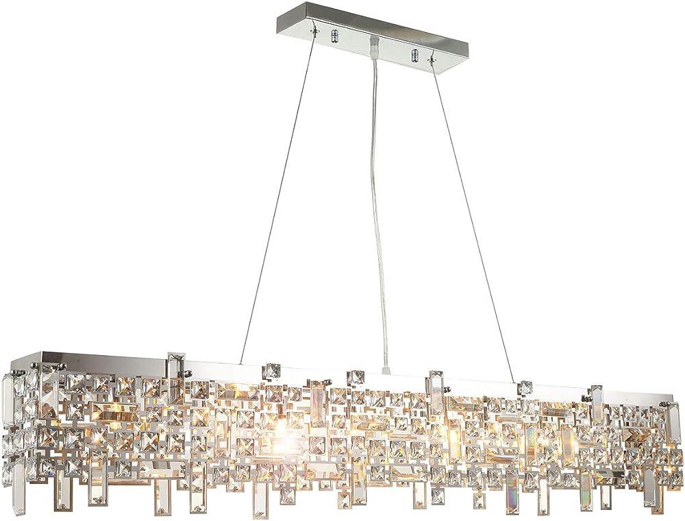 Lampadario vetro  cristallo moderno led lusso HA348