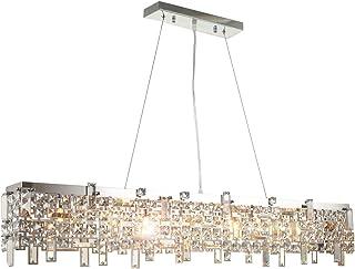 Moderno led lusso vetro cristallo lampadario plafoniera di dimensioni 110cm diametro soffitto soggiorno luce 8xG9 presa in...