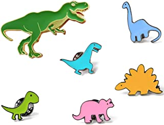 KimYoung Dinosaur Pins for Backpacks Jurassic Dinosaur Enamel Pin Set Cute Enamel Pins
