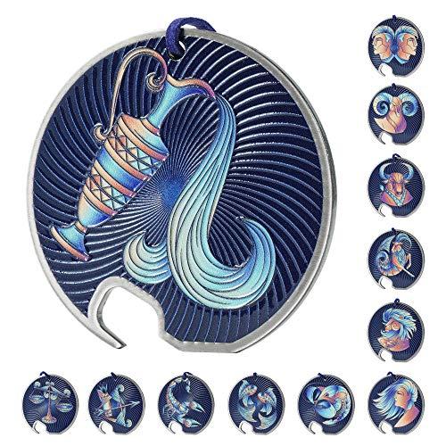 Kadax - Abrebotellas de acero inoxidable con diseño de zodiaco, abrebotellas con agujero y abrebotellas para casa, fiesta, bar, soda, boda (marino)