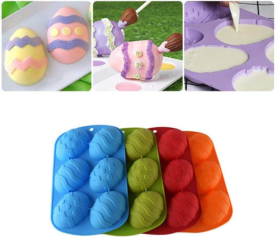 decorazione per torte in silicone per uova di cacao e uova rotabili per torte Stampo per uova di Pasqua fai da te colore: arancione