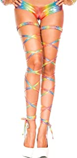 Metallic rainbow Metallic rainbow leg wrap