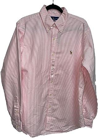 Ralph Lauren Camisa para hombre, diseño de rayas, color rosa ...