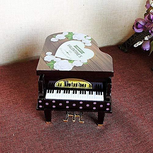 Muziekdoos Piano Music Box Ballet Girl Dancing Piano Verjaardagscadeau Plastic Cartoon Rotating Music Box Desktop Craft Geschenken for kinderen TONGDAUR (Color : Coffee, Size : Free)
