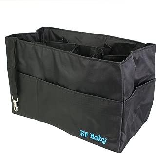 KF Baby Diaper Bag Insert Organizer - 12 x 6.4 x 8 inch, Black