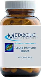 Metabolic Maintenance Acute Immune Boost - Immune Support Supplement with Vitamins D, C, Zinc - Elderberry Herbal Blend wi...