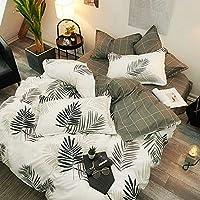 ヘルスパーソナルケアコットン漫画ベッドシーツ4点セットシンプルな北欧キルトカバー寝具セットシート羽毛布団カバー枕カバーB9ダークカーキ1.5mbed