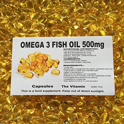The Vitamin Omega 3 Fish Oil (500mg) 365 Capsules - Bagged