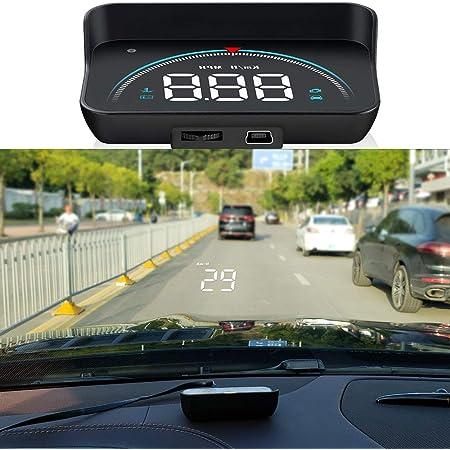 Wisamic Head Up Display Auto Hud Display Obd2 Hud Display Gps 3 5 Zoll Geschwindigkeitsmesser Auto Tachometer Wassertemperaturmesser Motordrehzahl Sicherheitsalarme Auto