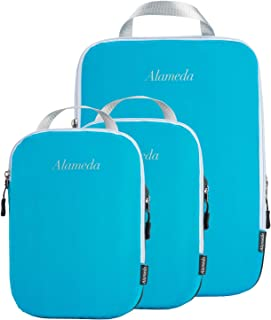 Compression Packing Cube Set 3pcs, Travel Bags Packing Organizers for Carry on Luggage Backpack