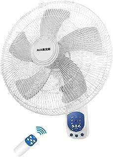 ventilador De Pared 90° Oscilante 42cm 3 Clases De Viento 3 Velocidades Mando A Distancia Y Temporizador Casa Oficina/Blanco