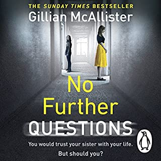 No Further Questions                   By:                                                                                                                                 Gillian McAllister                               Narrated by:                                                                                                                                 Imogen Church,                                                                                        Charlie Sanderson,                                                                                        Andy Cresswell,                   and others                 Length: 12 hrs and 39 mins     86 ratings     Overall 4.1
