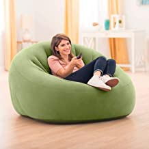 Intex inflatable beanless bag chair suitable for indoors and outdoors, 68576