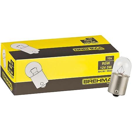 Brehma 10er Set R5w 12v 5w Kugellampe Ba15s Auto