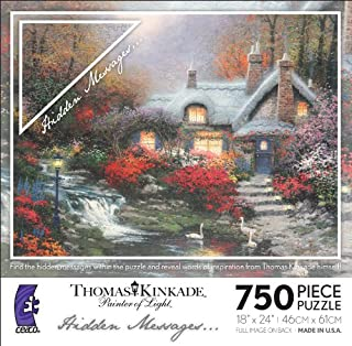 Thomas Kinkade Hidden Messages - Evening At Swanbrooke Cottage