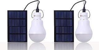 Bombilla solar KK. BOL Solar Light Camping Lámpara de Luz de Emergencia Lámpara Solar para Shed Patio Garden Chicken Coop Barn Pet House Patio Path Iluminación