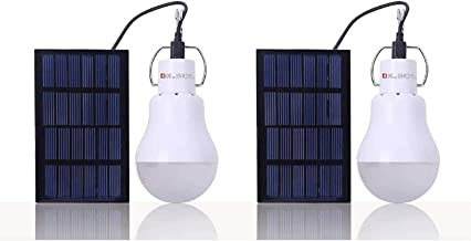 Solar Light Bulb KK.BOL Solar Light Camping Lamp Emergency Light Bulb Solar Lamp for Shed Patio Garden Chicken Coop Barn P...