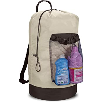BeeGreen Laundry Bag Backpack XLarge 24x36 with Zipper Pocket Heavy Duty Waterproof College Dorm Laundry Bag with Shoulder Strap and Handle Portable Laundry Backpack for Travel Men /& Women BeeGreenBags