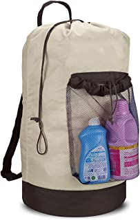 Dalykate Backpack Laundry Bag, Laundry Backpack with Shoulder Straps and Mesh Pocket..