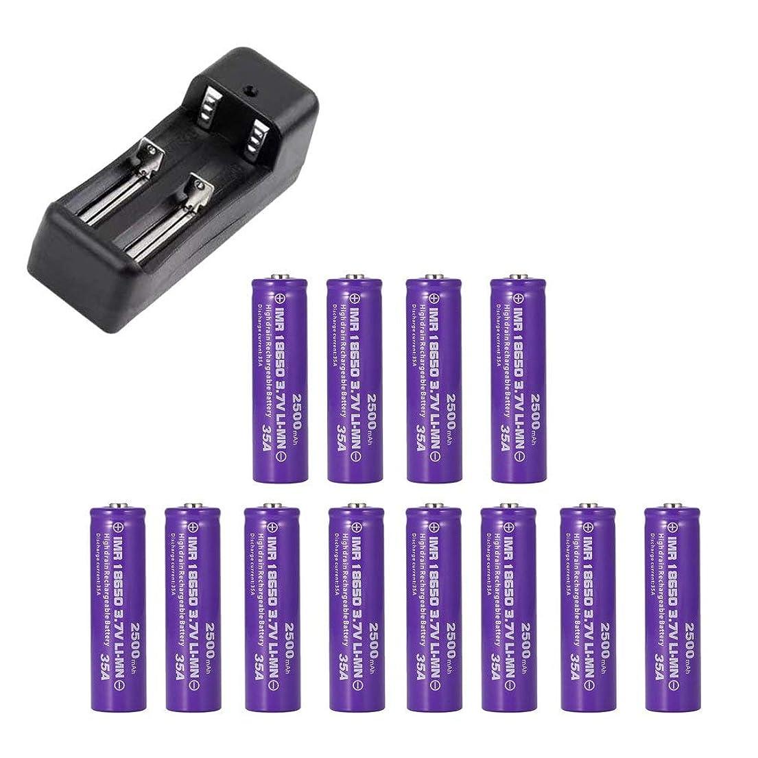虚弱完全に乾く悲鳴12Pcs / Vtc6 3.7V 800Mahリチウムイオン充電式18650バッテリー、Sony Us18650 C6 30A電子タバコツール+ 18650充電器(紫2溝)