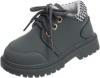 Lace Up Comfort Slip-On Short Shoes Children Kid Baby Girls Boys Boots Ankle Sport Short Bootie Casual Shoes