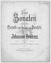 Clarinet Sonata No.1, Op.120/1 - Piano Score, Clarinet, Viola, Violin Parts
