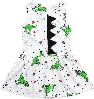 ワンピース 女の子 カジュアル 可愛い ノースリーブ 恐竜柄 通学 プリンセスドレス ファション 子供心 プレゼント 発表会 七五三 パーティー お出かけ スカート