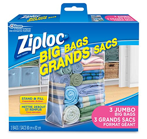 Ziploc Big Bags Storage with Double Zipper XX Large - 3 Count