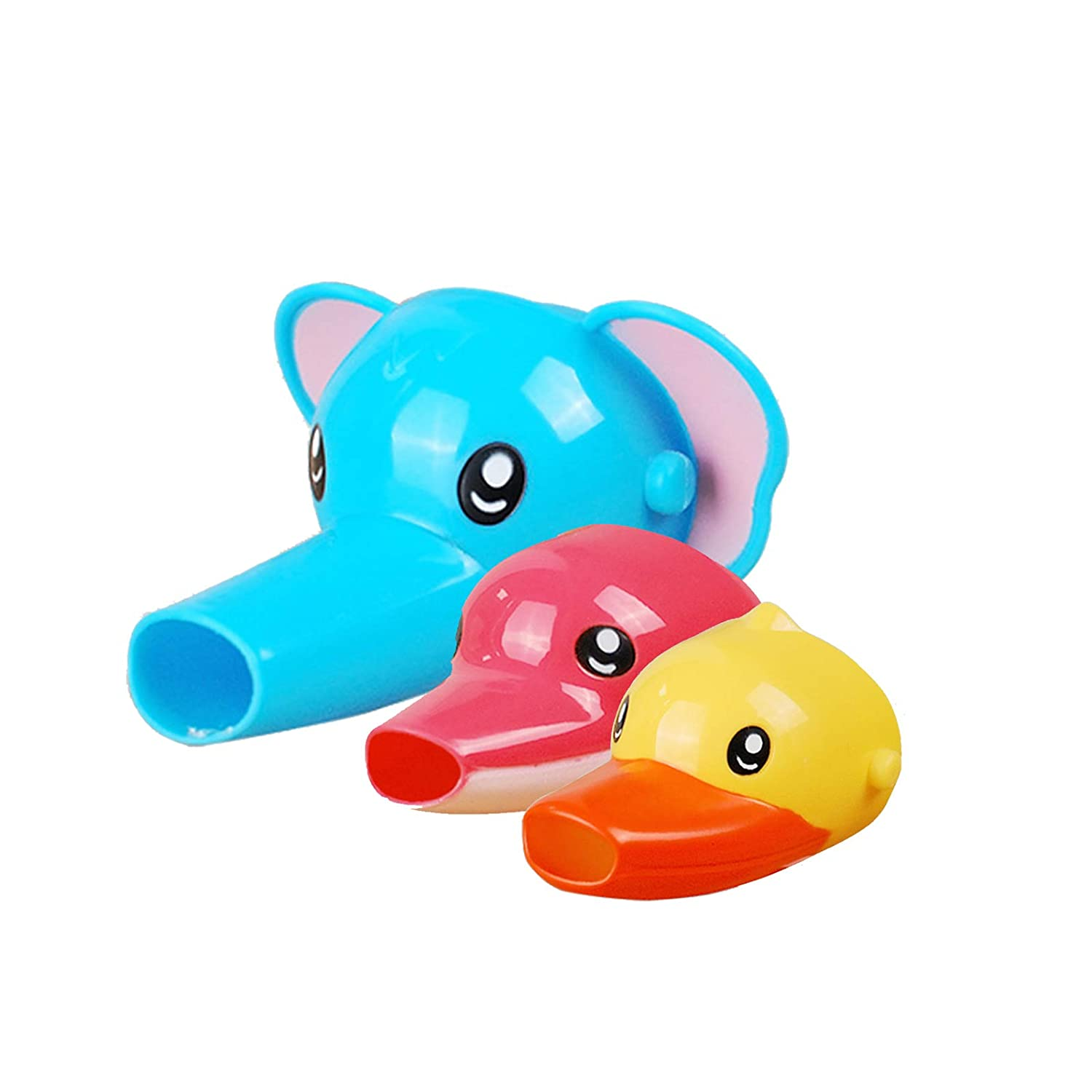 1Pcs Cartoon Faucet Extender Sink Handle Extender for Toddler, Baby, Children Safe and Fun Hand-Washing Solution (Blue Elephant)
