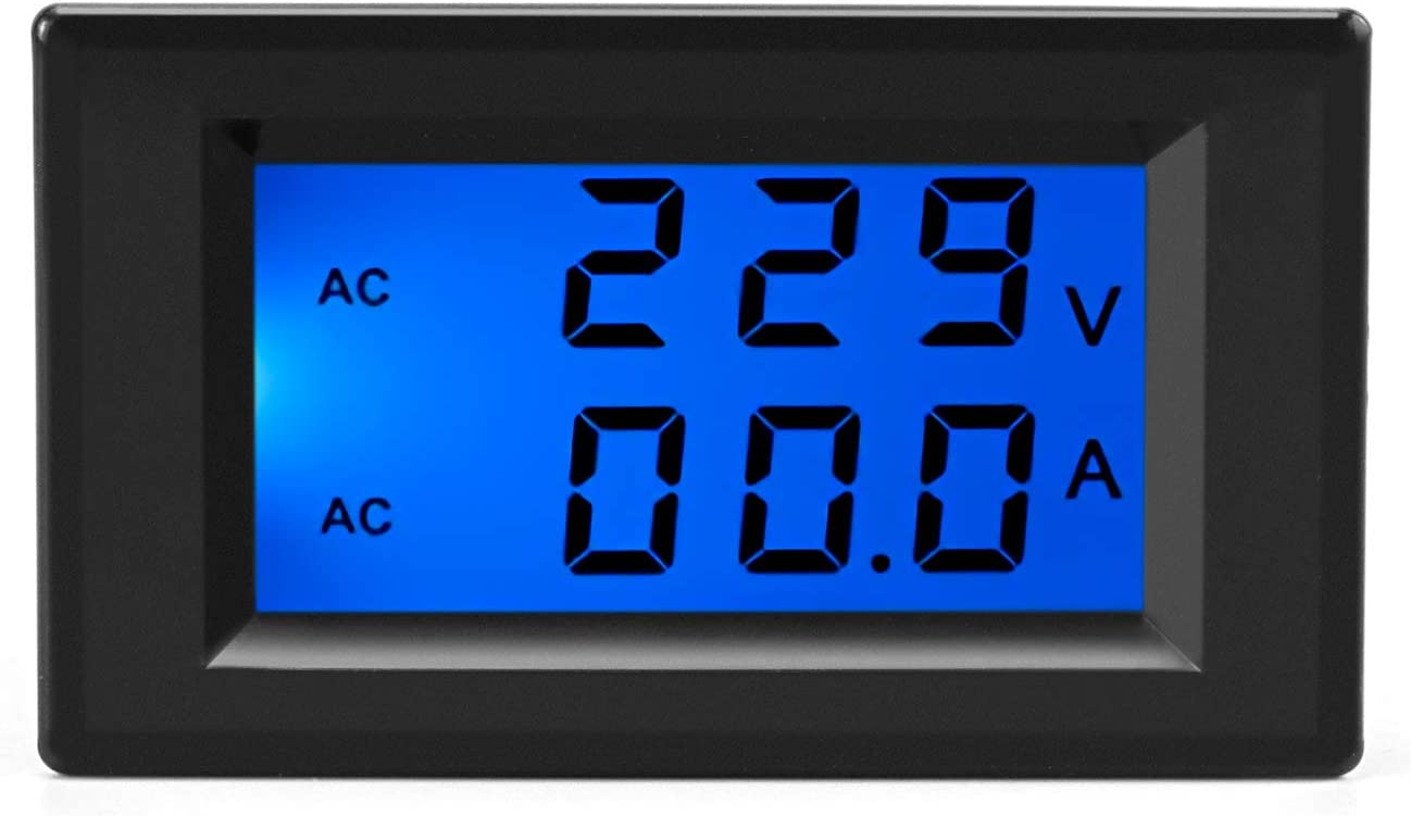 QWORK AC 80-500V 100A Digital Free shipping anywhere in the nation Multimeter San Jose Mall Voltage Di Current LCD