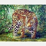 DIY Kit De Pinturas para El Hogar Animal Pintar por Numeros Adultos Niños Pintura por Numeros con Pinceles Lienzo Y Pinturas Acrilicas 40X50Cm(Sin Marco)