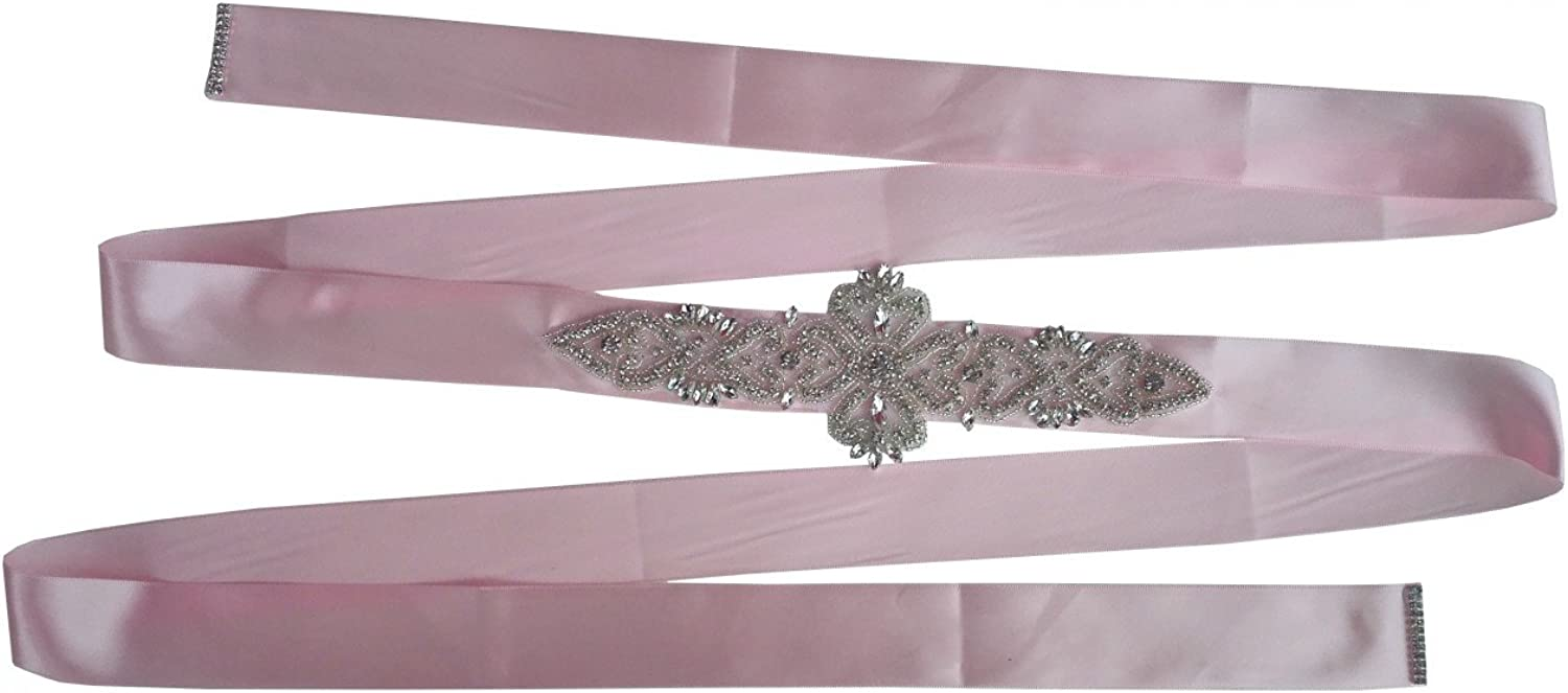 Miranda's Bridal Women's Wedding Belt Bridal Crsytal Sash for Brides