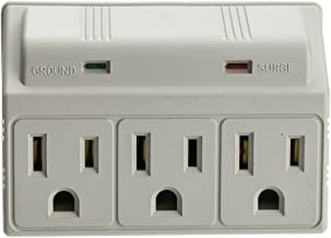 CableWholesale Surge Protector, 3 Outlet, MOV 270 Joules LED Power Indicator