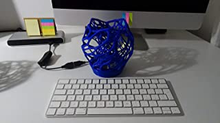 Lampada USB Blu forma astratta a cellula.