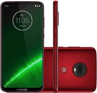 "Motorola Moto G7 Plus XT1965 64GB 6.2"" FHD+ Dual SIM LTE Factory Unlocked (International Model) (Red)"
