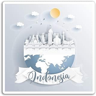2 x 10cm Indonesia Vinyl Stickers - Jakarta Travel Sticker Laptop Luggage #17109 (10cm Tall)
