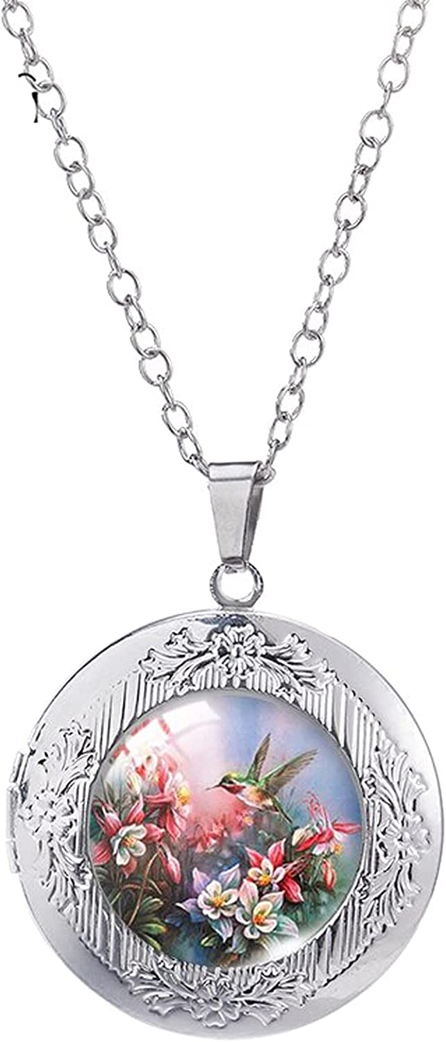 Locket Necklace Some reservation New Free Shipping Hummingbird Secret Garden in