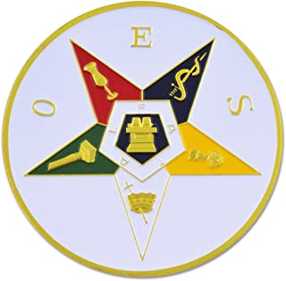 "Order of the Eastern Star Round Masonic Auto Emblem - 3"" Diameter"