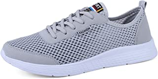 QXA Fashion Mens Women's Lightweight Athletic Running Shoes Breathable Mesh Upper Walking Lovers Sneakers