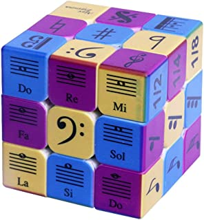 Speed Cube 3x3x3 Music Notes Design Magic Cube Puzzle,IQ Games Puzzles Relief Effec Gift Music Lovers Kids Adult Toys,5.6cm/2.2""