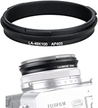 JJC 49mm Metal Filter Adapter Ring Lens Adapter Connector for Fujifilm X100F X100T X100S X100 X70 Installing UV Protector CPL Circular Polarizer ND Neutral Density Filter, Replaces Fuji AR-X100 /Black
