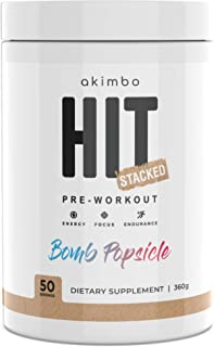 Akimbo HIT Stacked Pre Workout Powder | 50 Servings | Pre Workout Energy, Focus, Endurance & Pump Amplifier | All-in-One N...