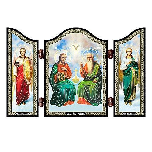 NKlaus 1410 Heilige Dreifaltigkeit christliche Ikone Svjataja Troica Reise Altar G