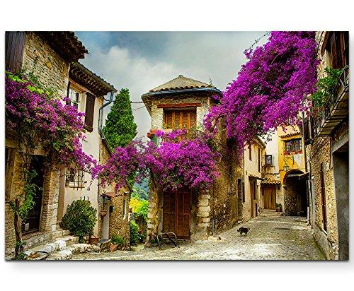 Paul Sinus Art Leinwandbilder | Bilder Leinwand 120x80cm wunderschöne alte Stadt in der Provence