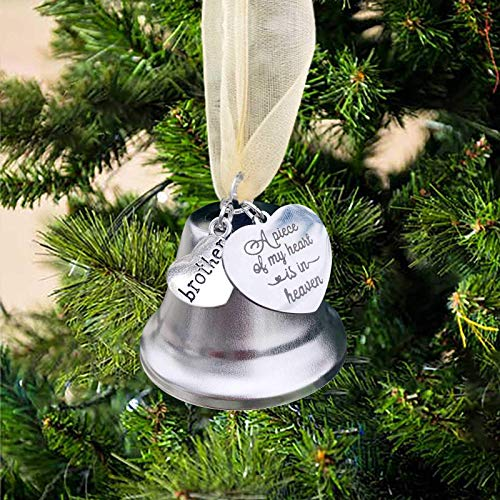 Mingbai Christmas Angel Wings Ornaments, Family Christmas, Family Party Holiday Decorations Hanging Sign Commemorative Decoration, for Christmas Ornament, Memorial Ornament Decoration (for Brothers)