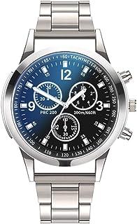 comprar comparacion OPAKY Relojes Hombre Acero Inoxidable Deportes analógico de Cuarzo Relojes Reloj de Cuarzo Reloj de Acero Inoxidable con B...