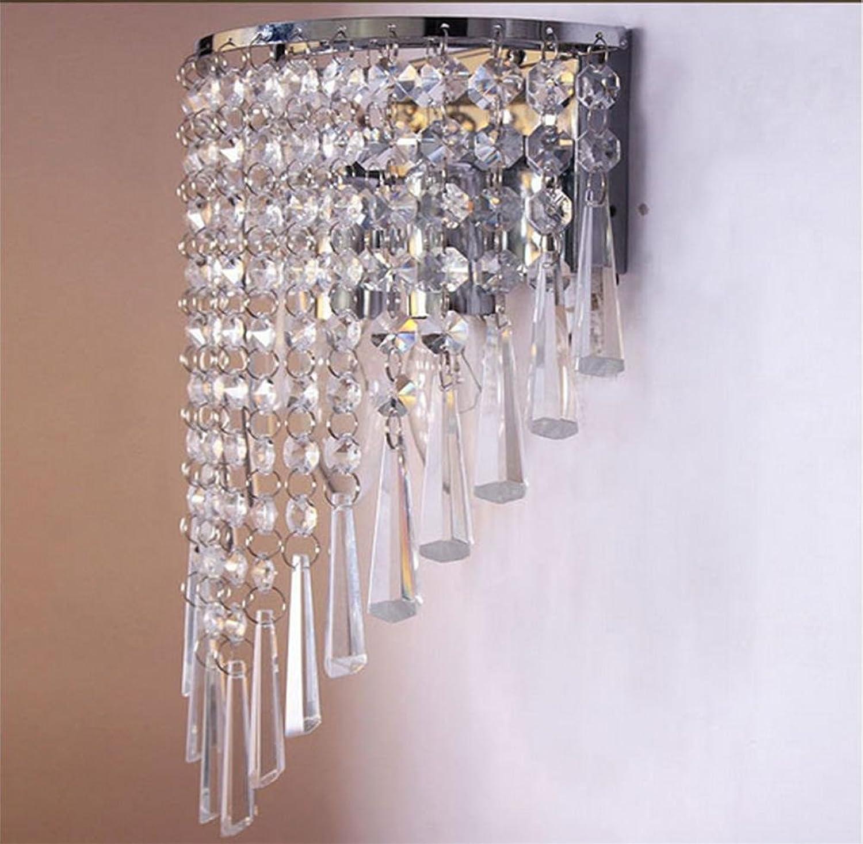 Xh&Yh Moderne minimalistische Hotelzimmer Schlafzimmer Wohnzimmer Nacht Gang Crystal Wandleuchte, Silber
