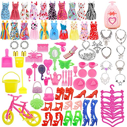 WENTS Accesorios muñecas Doll Accesorios Ropa Zapatos y Accesorios para Las muñecas Doll 86pcs